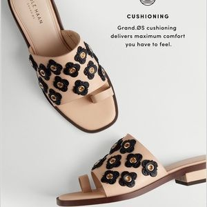 Cole Haan Carly Floral Leather Sandal Slide
